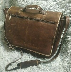 WILSON'S LEATHER | Brown Leather Laptop Bag!